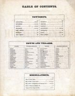 Table of Contents, Hunterdon County 1873